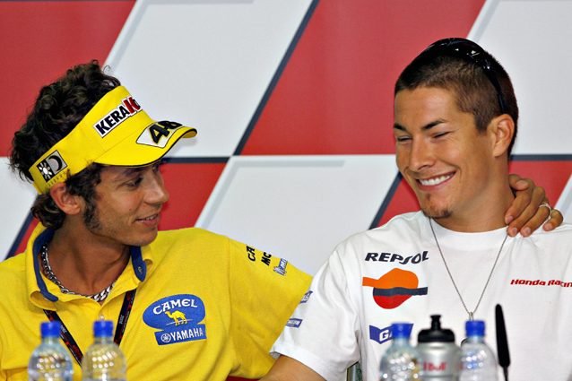 Valentino Rossi e Nicky Hayden nel 2006 – Getty Images