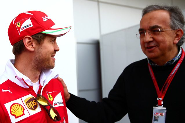 Sergio Marchionne e Sebastian Vettel – Getty Images