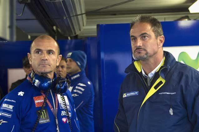 Il direttore del team Yamaha Massimo Meregalli e i responsabile Michelin Piero Taramasso / GettyImages