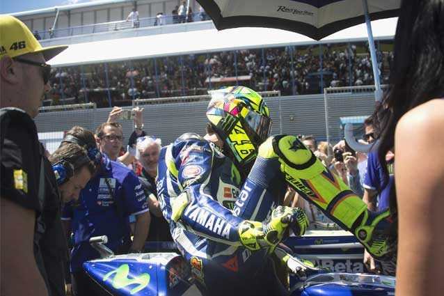 Valentino Rossi sulla griglia di partenza del Gp di Spagna 2016 / GettyImages