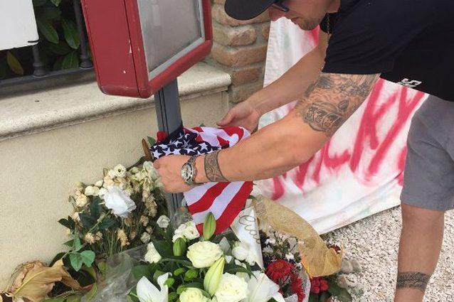 Ben Spies deposita il mazzo di fiori per Hayden – Foto Instagram