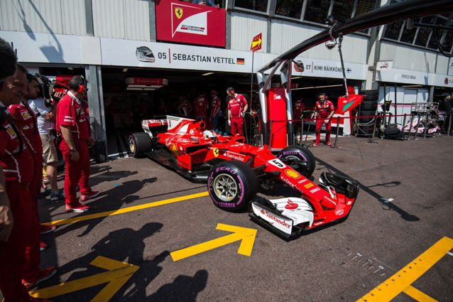 La Ferrari di Sebastian Vettel – Getty Images