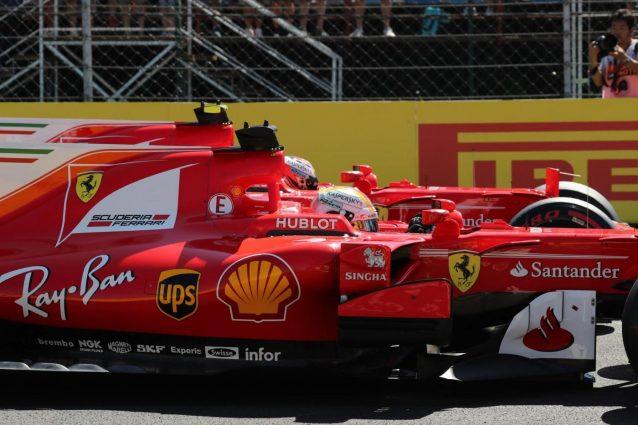 1a fila Ferrari all'Hungaroring