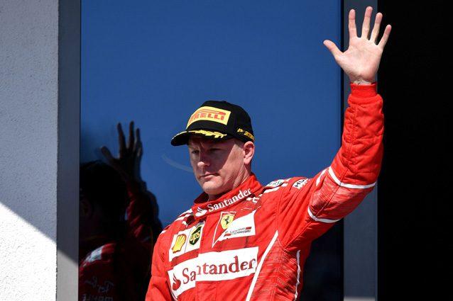 Kimi Raikkonen sul podio dell'Hungaroring – Getty Images
