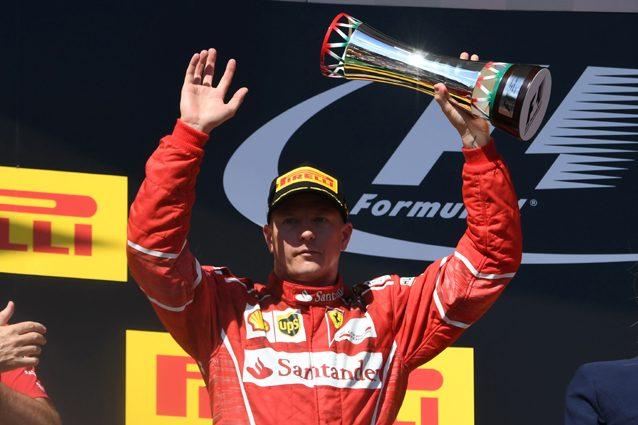 Kimi Raikkonen sul podio del Gran Premi d'Ungheria – Getty Images