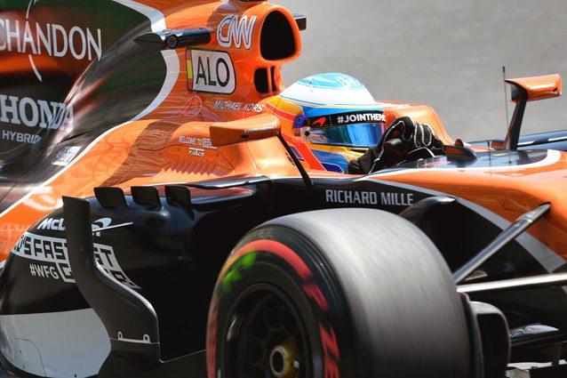 La McLaren di Fernando Alonso – Getty Images