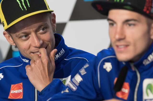 Valentino Rossi, 38 anni, e Maverick Vinales, 22 anni / Gettyimages
