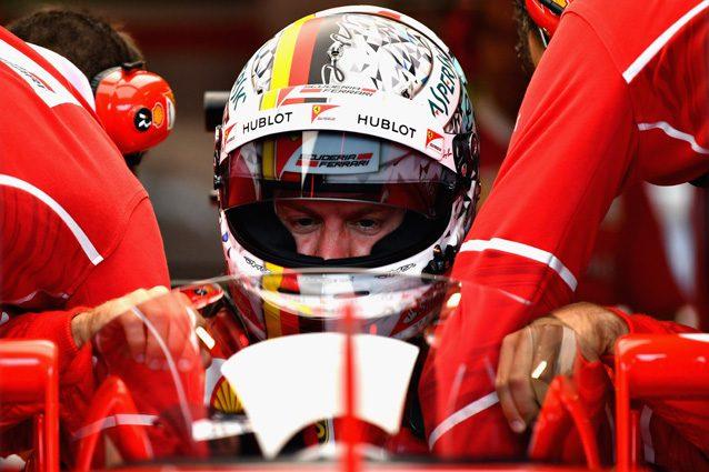 Sebastian Vettel con il nuovo sistema di protezione Shield – Getty Images
