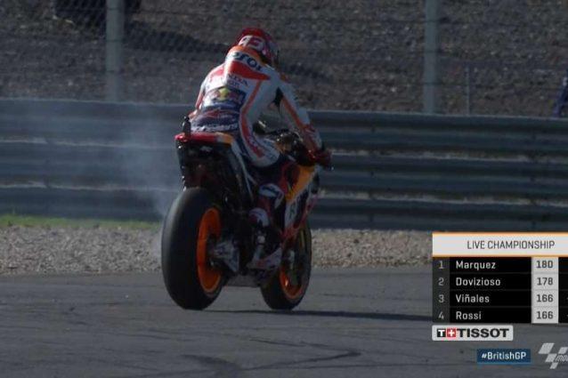 Marquez rompe il motore: lo spagnolo costretto al ritiro