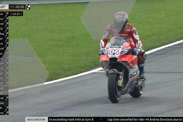 Dovizioso subito veloce ma il suo miglior tempo viene cancellato per aver superato il limite della pista in curva 9 / MotoGp.com