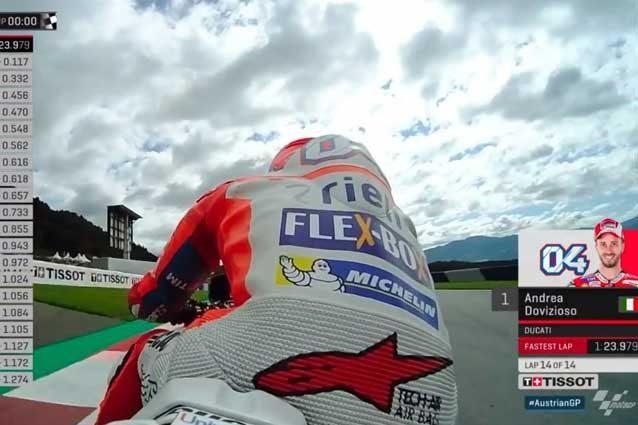 Andrea Dovizioso si prende il warm up, 6° Rossi