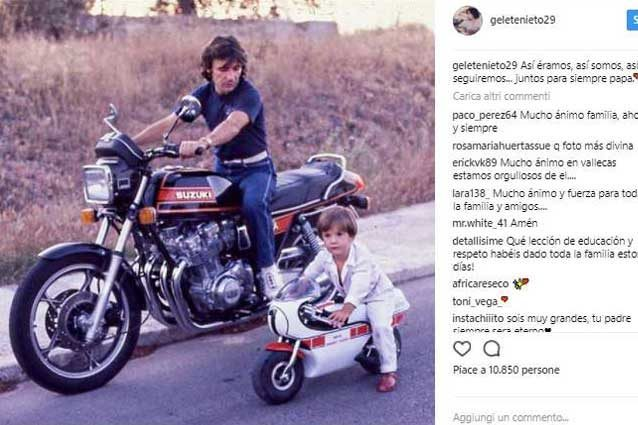 """Angel Nieto, il toccante messaggio del figlio Gelete: """"Uniti per sempre papà"""""""