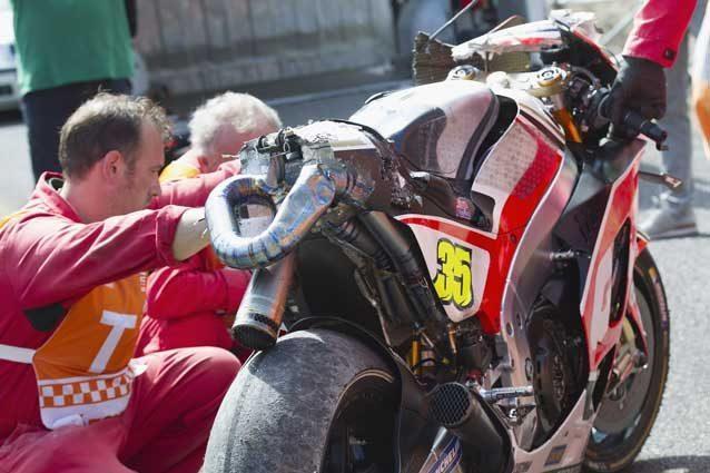 La Honda di Cal Crutchlow dopo l'incidente di sabato a Brno / GettyImages