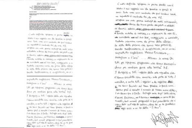 La lettera di addio alla Yamaha scritta da Valentino Rossi nel 2010 / Shannonscharity