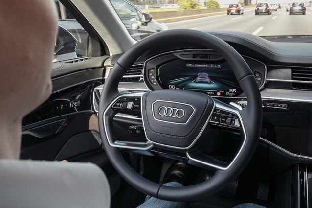 Guida autonoma avanzata, sulla Audi A8 debutta il sistema AI traffic jam pilot