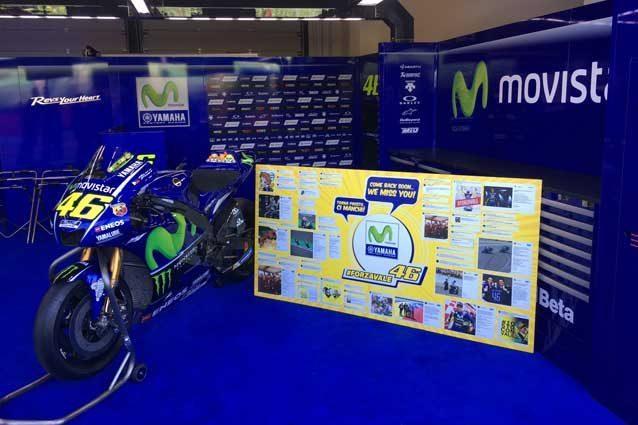 Il box di Valentino Rossi a Misano