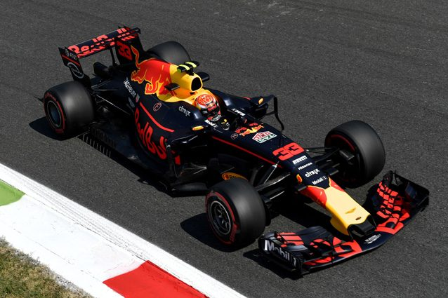 La Red Bull impegnata sul circuito di Monza – Getty Images