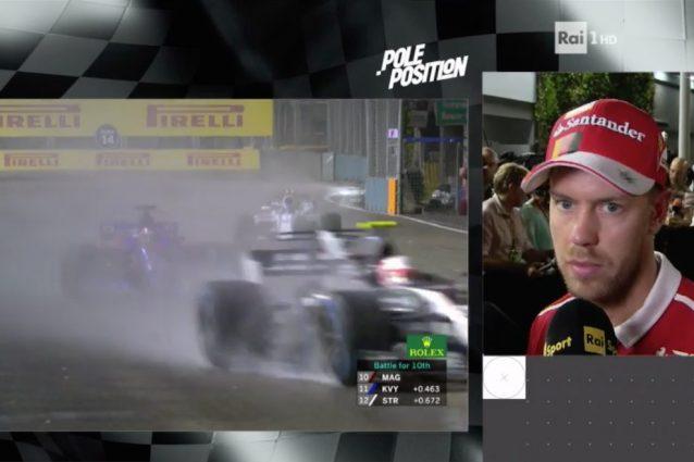 """Vettel: """"Ho sentito un colpo ed è finita lì"""""""