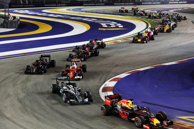 Una sezione del tracciato di Singapore – Getty Images
