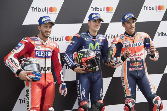 Marc Marquez, Maverick Vinales e Andrea Dovizioso . Getty images