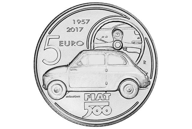 Moneta d'argento per i 60 anni della Fiat 500