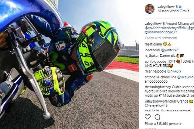 Il post di Valentino Rossi su Instagram