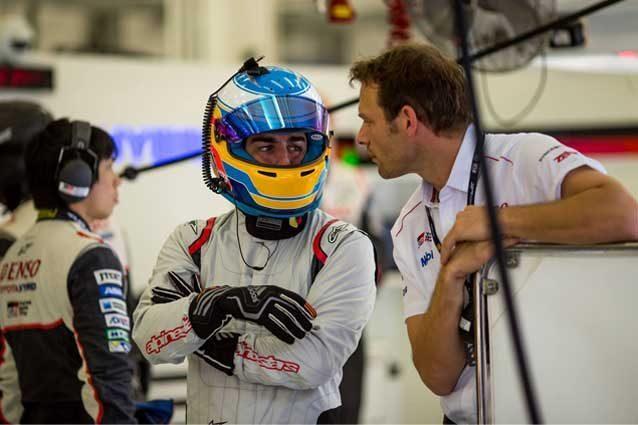 Fernando Alonso durante il Rookie Test Wec all'International Circuit di Sakhir / FIA WEC