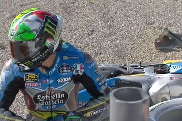 Franco Morbidelli dopo la caduta alla curva 10 / MotoGP.com