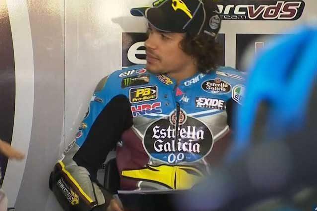 Franco Morbidelli al box / MotoGP.com