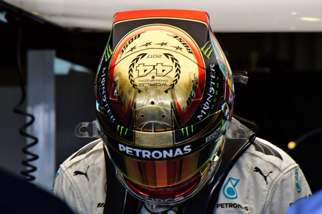 Il casco di Lewis Hamilton – Getty images