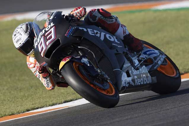 Marc Marquez in sella alla Honda 2018 nei test di Valencia / Getty Images