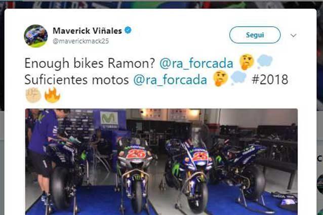 Il post di Maverick Vinales su Twitter