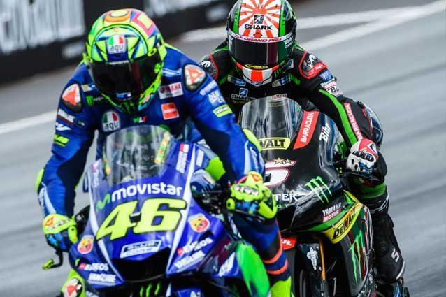 Valentino Rossi e Johann Zarco / Getty Images