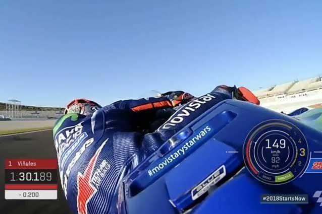 MotoGP, test a Valencia: Vinales è il più veloce, Rossi quarto