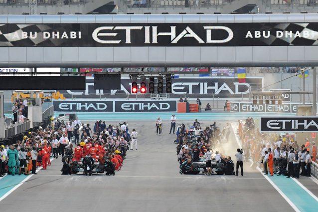 La griglia di partenza di Abu Dhabi – Getty images