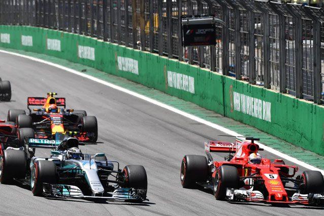 Ferrari e Mercedes sulla pista di Interlagos – Getty images