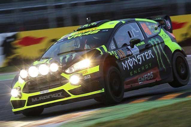 Valentino Rosi navigato da Carlo Cassina in azione al Monza Rally Show / Monza Circuit