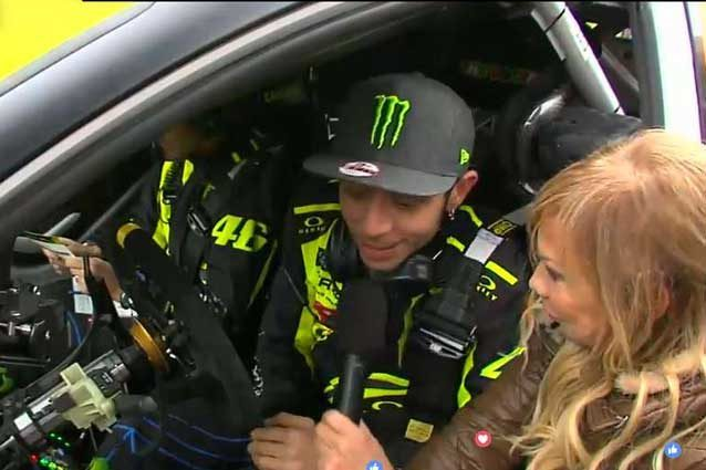 Valentino Rossi alla partenza del Monza Rally Show ( Monza Eni Circuit
