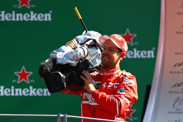 Sebastian Vettel con la telecamera al GP d'Italia – Getty images