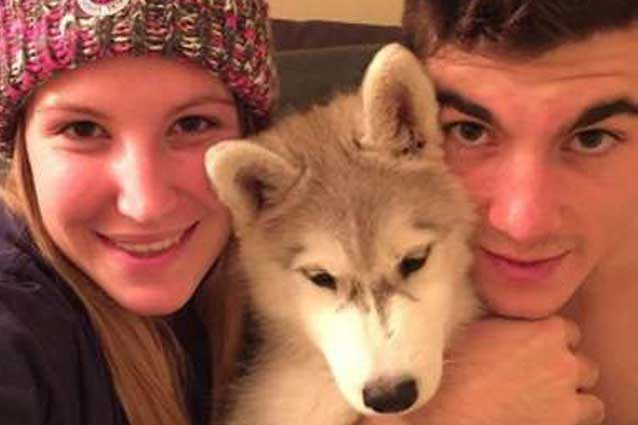 Kiara Fontanesi, Maverick Vinales e il cane Ice / Instagram