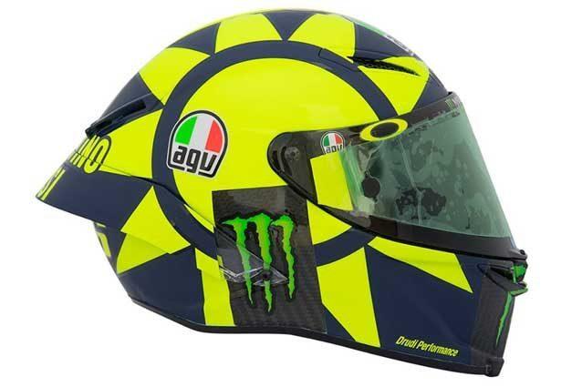 La grafica del nuovo casco di Valentino Rossi / Agv.com