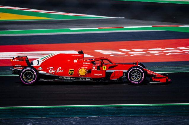 La Ferrari di Kimi Raikkonen con le gomme Ultrasoft – Sito Media Ferrari