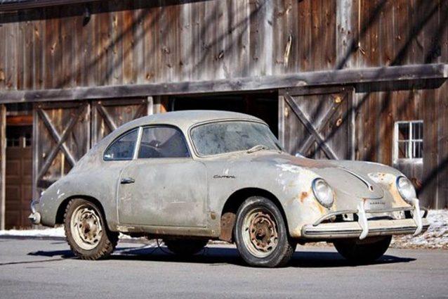 La Porsche 356 A 1500 GS Carrera Coupé del 1957 ritrovata in un fienile – Foto Gooding&Company