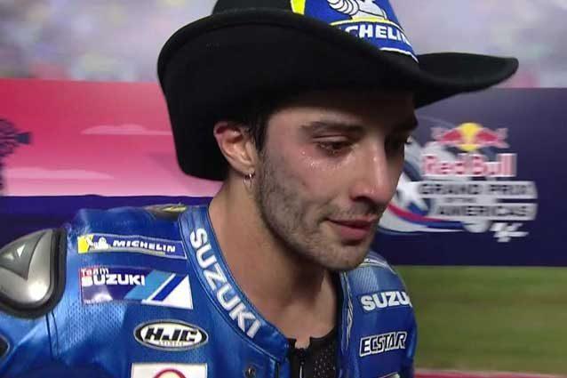 Iannone in lacrime dopo il podio negli Usa  Sky Sport