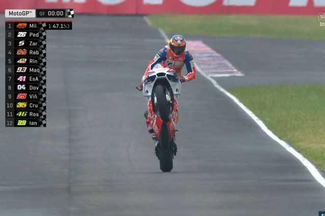 MotoGP Argentina: azzardo Miller, pole show; Marquez 6°, Dovi 7°, Rossi 11°