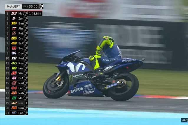 Valentino Rossi al termine delle libere 3 / MotoGP.com