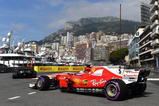 La Ferrari sulla pista di Monaco – Getty images