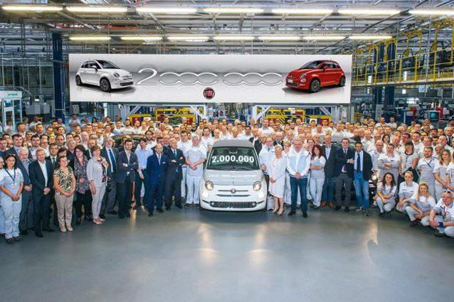 La Fiat 500 che ha permesso di raggiungere quota 2 milioni di esemplari prodotti