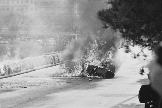 L'incidente di Lorenzo Bandini – Getty images