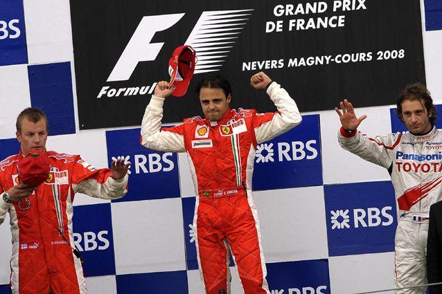Felipe Massa festeggia la vittoria numero 200 della Ferrari in F1 – Getty images